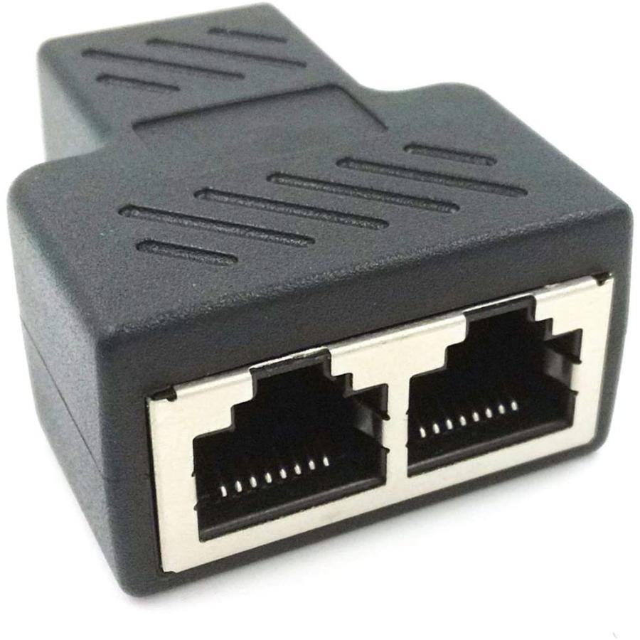 送料無料 RJ45 信頼 爆売り LAN 延長 コネクタ ケーブル用中継インターネット 有線 ケーブル 二 2分岐 股 メス-メス コンパクト ギガビット 分岐 タ 8P8C プラグ