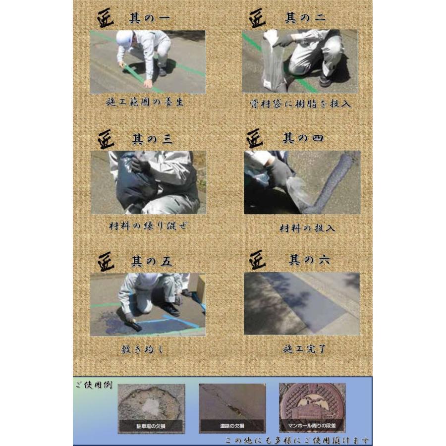 【道路・駐車場の部分補修剤】へこみフラット匠_GRAY(グレータイプ) ymi-net 03