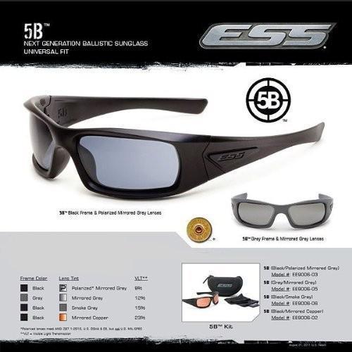 ESS 5B イーエスエス 5ビー フレーム/ブラック レンズ/スモークグレー EE9006-06 直輸入品