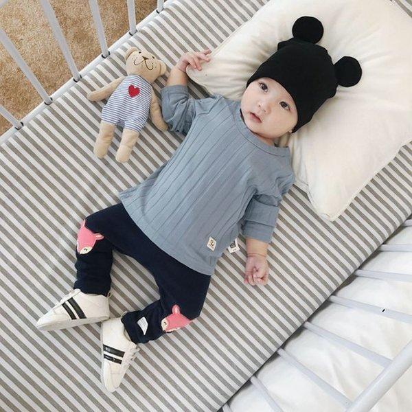 Tシャツ ベビー 長袖 赤ちゃん トップス キッズ 子供服 韓国子供服 無地 ymyo-shop 02