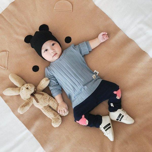 Tシャツ ベビー 長袖 赤ちゃん トップス キッズ 子供服 韓国子供服 無地 ymyo-shop 03
