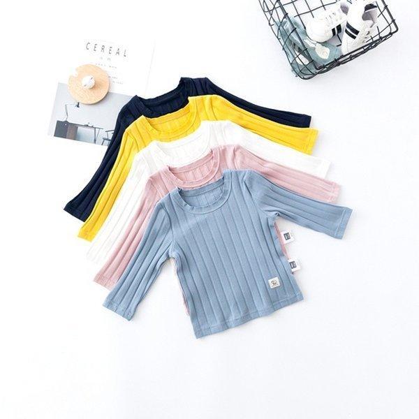 Tシャツ ベビー 長袖 赤ちゃん トップス キッズ 子供服 韓国子供服 無地 ymyo-shop 06