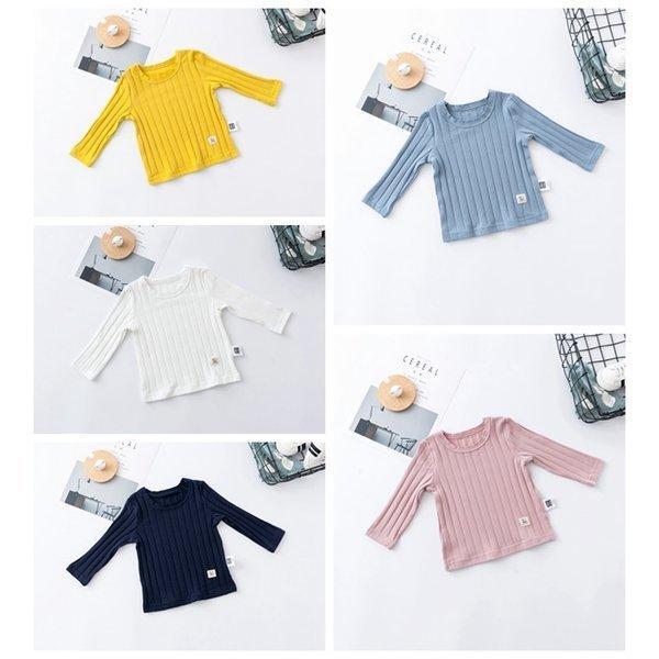 Tシャツ ベビー 長袖 赤ちゃん トップス キッズ 子供服 韓国子供服 無地 ymyo-shop 07