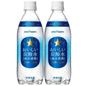 ポッカサッポロ おいしい炭酸水 PET 600ml x 24本 ケース販売 ポッカサッポロ 日本 飲料 炭酸水 水 大容量 2ケースまで同梱可能|yo-sake