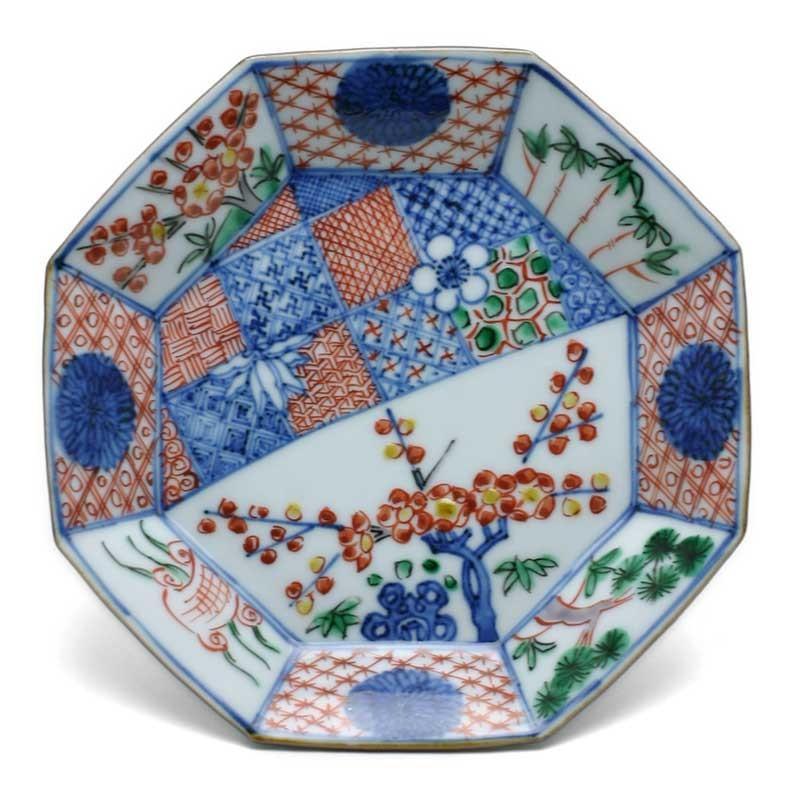 九谷焼:色絵祥瑞松竹梅皿・須田菁華《小皿・取り皿・銘々皿・14.8cm》|yobi
