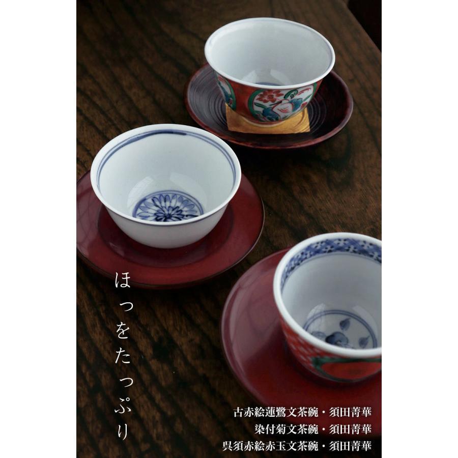 九谷焼:染付菊文茶碗・須田菁華《汲出》|yobi|11