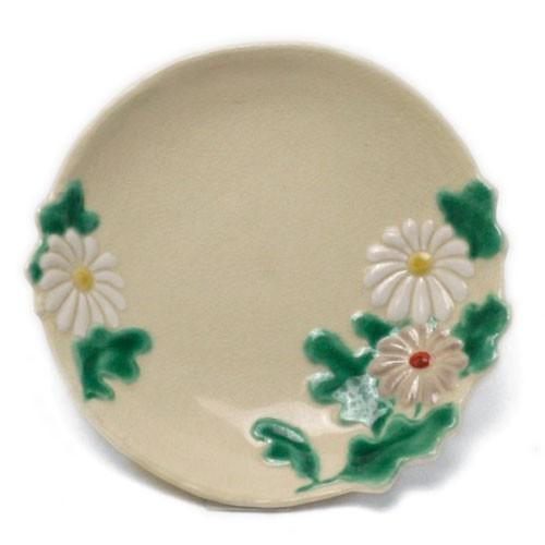 京焼:色絵菊形小皿・伏原博之《豆皿・9.0cm》|yobi