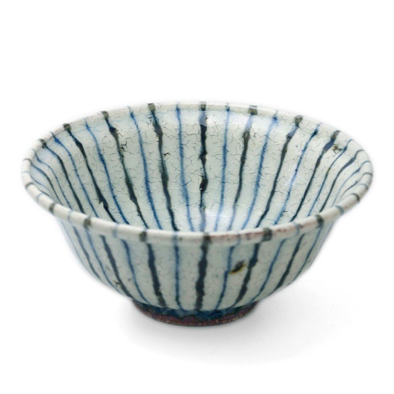 煮物鉢・紫縞・ 杉本太郎《中鉢・15.5cm》|yobi