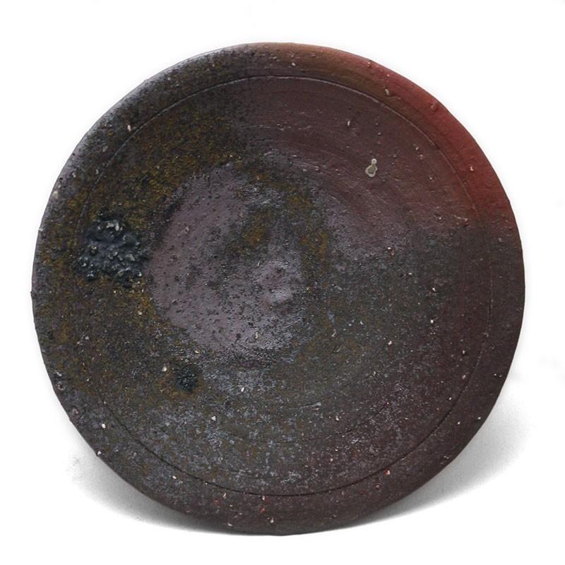 焼き締め:焼〆丸皿・17cm・辻村塊《中皿・17cm》 yobi