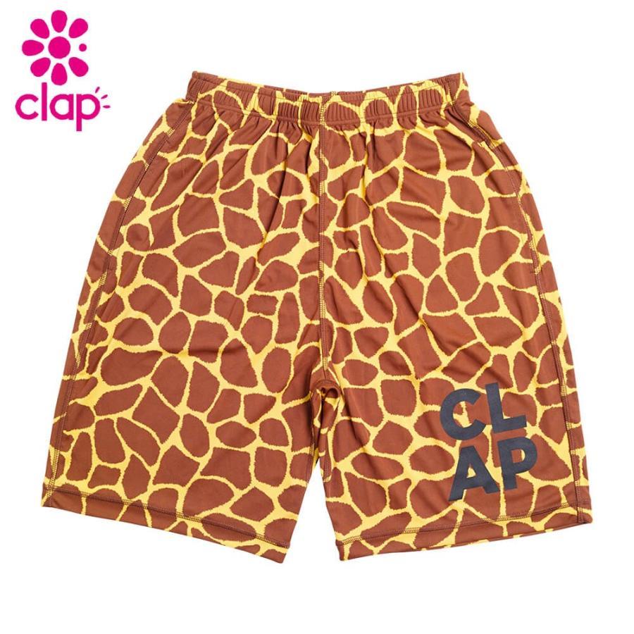 CLAP クラップ フィットネス ウェア パンツ レディース ハーフパンツ Giraffe