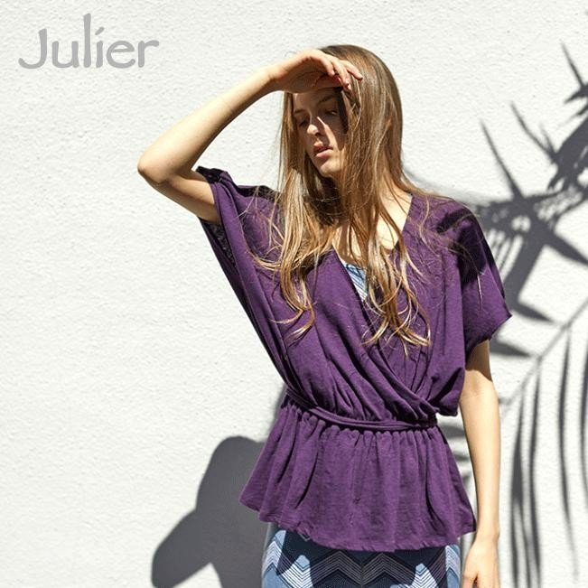 【セール SALE】 ジュリエ Julier ヨガウェア トップス Tシャツ カシュクールプルオーバー ヨガブランド ヨガ ピラティス ウェア