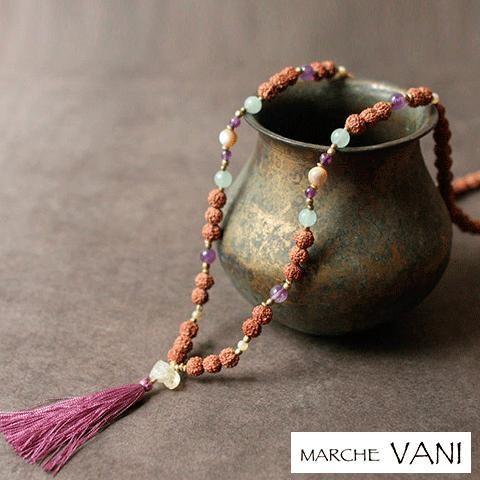 VANI マーラー desert-night 【vani ヴァニ マラ ヨガ アクセサリー 天然石 ルドラクシャ 瞑想】