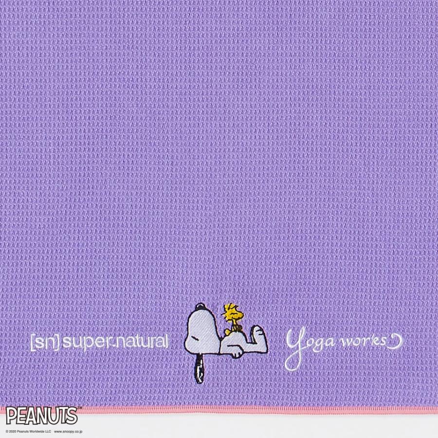 ホットヨガラグ ヨガマット 折りたたみ ヨガワークス ピーナッツ(スヌーピー)×SN×ヨガワークス コラボ yogaworks ワッフルヨガラグ ホットヨガタオル|yoga-pi|05