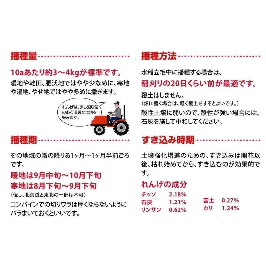 【2021年産】レンゲ種子 20kg 送料無料 緑肥の種 yohonsha-japan 04