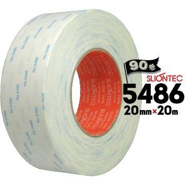 マクセル スリオンテック 紙両面テープ No.5486 強粘着タイプ/銘板固定/家電用/建材用 20mm×20m 90巻