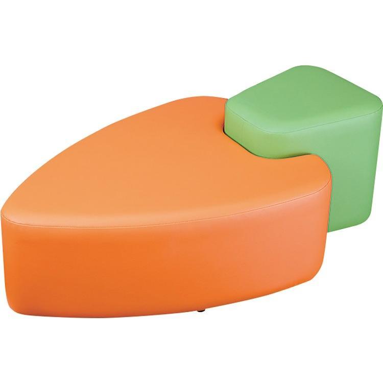 ベンチソファ キャロットベンチ AS-020 W1125×D640×H400×SH320mm 椅子 いす イス キッズルーム キッズスペース キッズコーナー