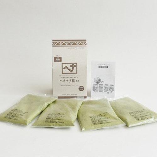 ナイアード ヘナ+木藍(もくらん) 茶系 400g 白髪染め|yoka1|03