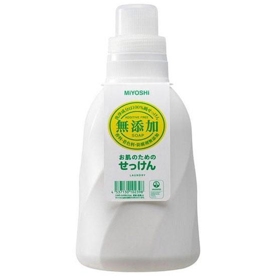 ミヨシ石鹸 無添加 お肌のための洗濯用 液体せっけん ボトル 1.1L yoka1