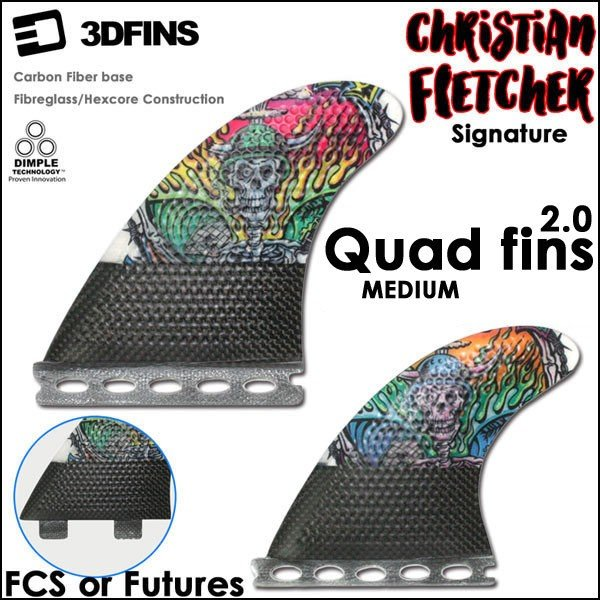 3DFINS クワッドフィン MR FCS QUAD 2.0 CHRISTIAN FLETCHER Futures./FCS 4fin