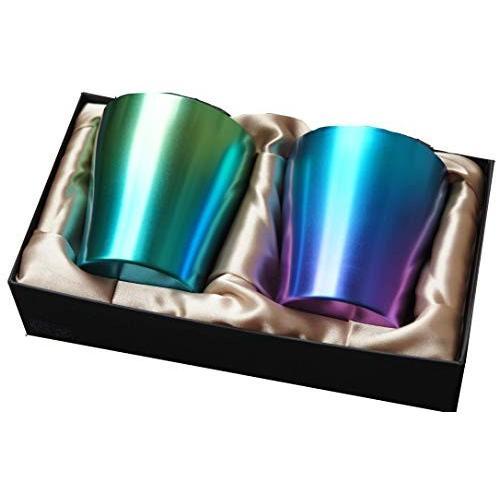 HORIE(ホリエ)チタン二重タンブラー 限定モデル 新緑(しんりょく) グリーン&ブルー 2色セット T15SR250G13G18