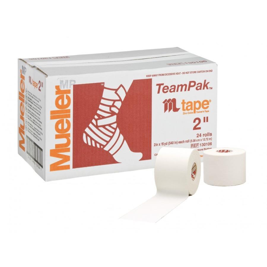 Mueller  足首用非伸縮ホワイトプロテープ(51mm) お得なチームパックシリーズ (24個) #130106MJ