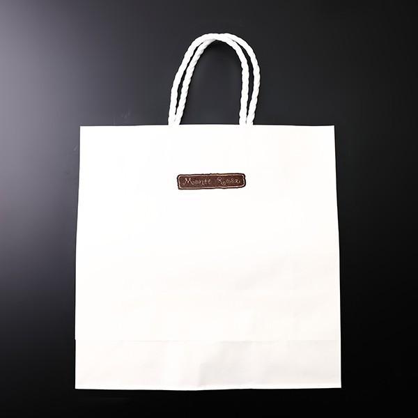 紙袋 白 h320×w317×d115|yokohama-monterosa