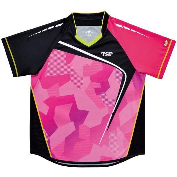 TSP 卓球 男女兼用 卓球用ウェアフォルツァシャツ Viscotecs 17 ピンク ケームシャツ パンツ(031419-0300)