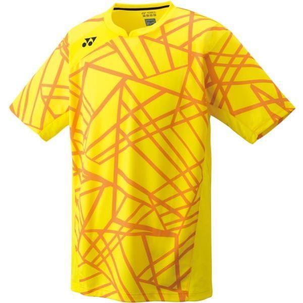 ヨネックス バドミント ゲームシャツ(フィットスタイル)メンズ 19 ライトイエロー ケームシャツ・パンツ(10236-279)