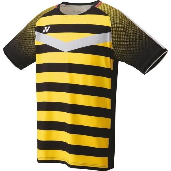 ヨネックス バドミント ゲームシャツ(フィットスタイル)メンズ 19 ブラック/イエロー ケームシャツ・パンツ(10274-400)