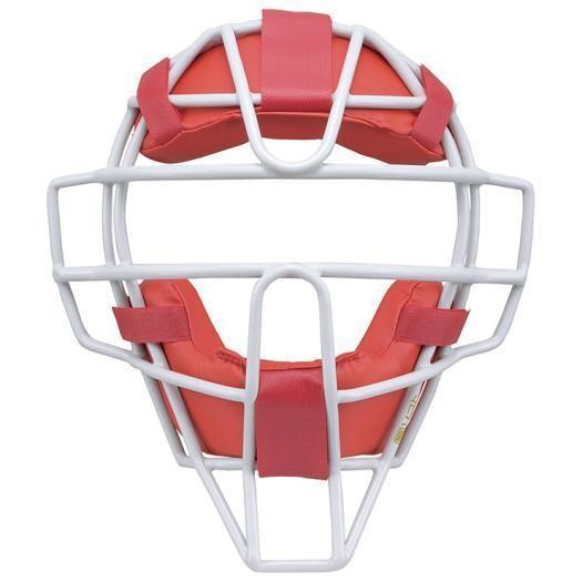 ミズノ ソフトボール用マスク 62&nbspレッド×グレー(1djqs11062)