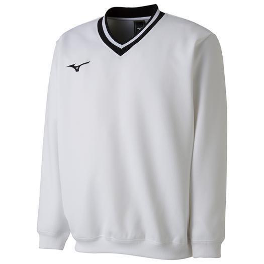 ミズノ スウェットシャツ(肉厚)[ユニセックス] 01&nbspホワイト(62jc800201)