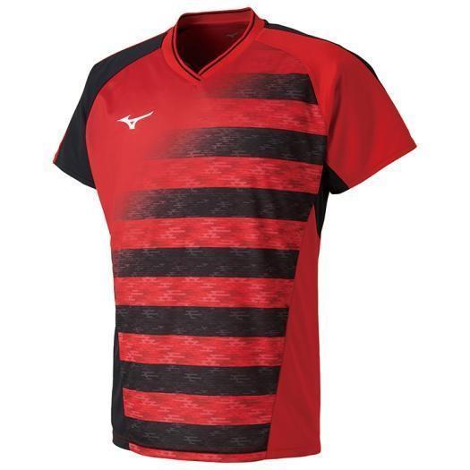 ミズノ ゲームシャツ(ラケットスポーツ)[ユニセックス] 62&nbspチャイニーズレッド(72ma800262)