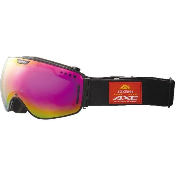 アックス スキー メンズ スノーゴーグル UVカット 16 シャイニーブラック ゴグル・サングラス(ax960ecm-bk)