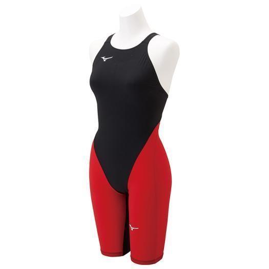 ミズノ 競泳用MX・SONIC G3 ハーフスーツ[ジュニア] 96&nbspブラック×レッド(n2mg891196)