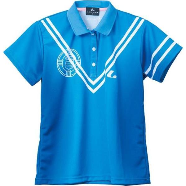 ルーセント テニス レディース テニス ゲームシャツ ブルー 16FW ブルー ケームシャツ・パンツ(xlp4867)