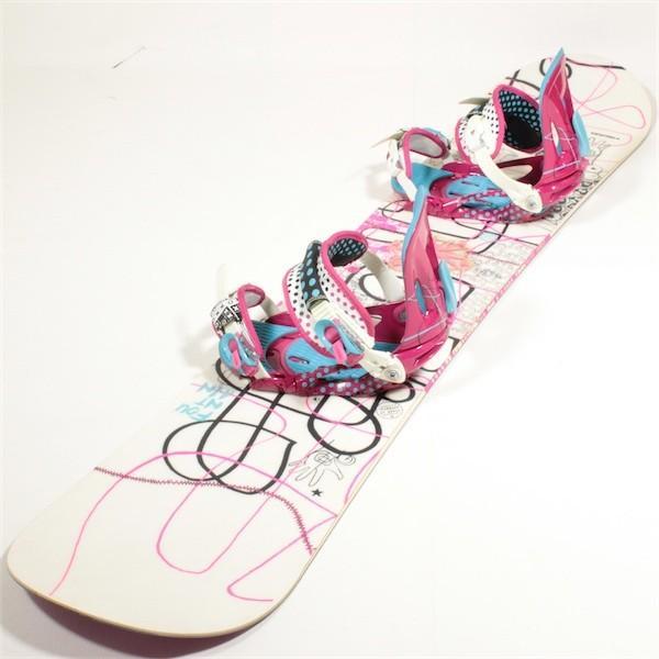 HEAD FOUNTAIN i ボード2点セット サイズ144cm 【中古】スノーボード2点セット スノボ 板 バインディング ボードセット ヘッド レディース 女性用 型落ち