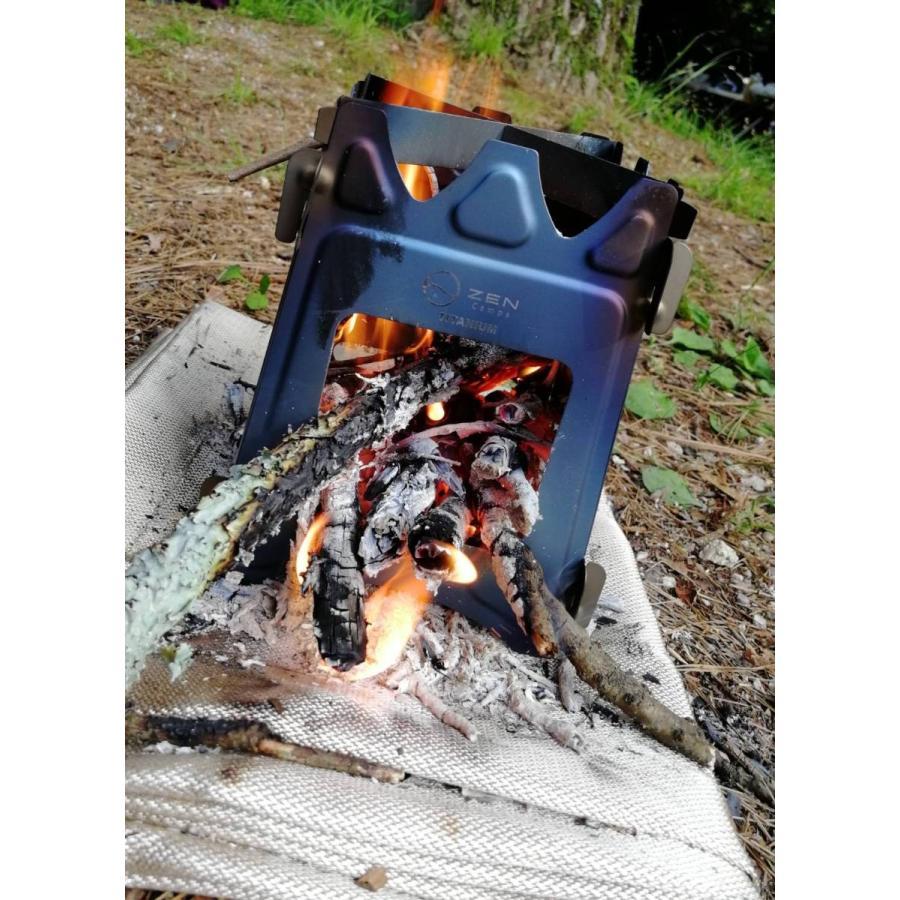 チタン製 ウッドストーブ  コンパクト ZEN Camps  超軽量  ソロ  キャンプ アウトドア 焚き火台|yolo-goods-company|09