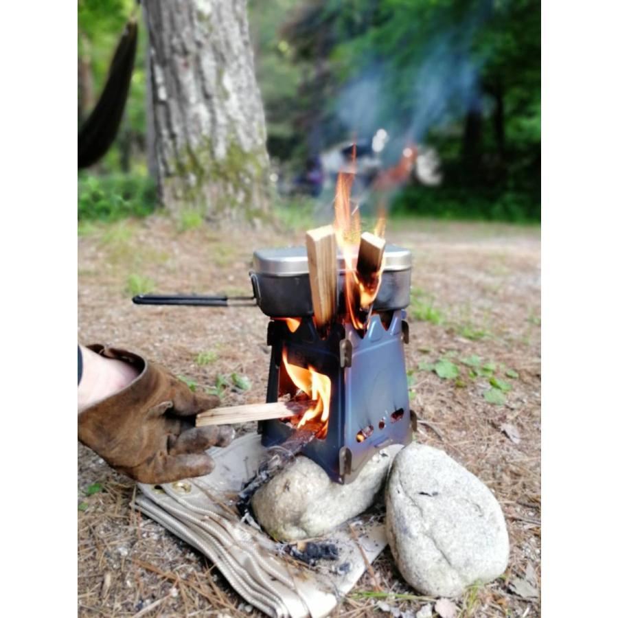 チタン製 ウッドストーブ  コンパクト ZEN Camps  超軽量  ソロ  キャンプ アウトドア 焚き火台|yolo-goods-company|10