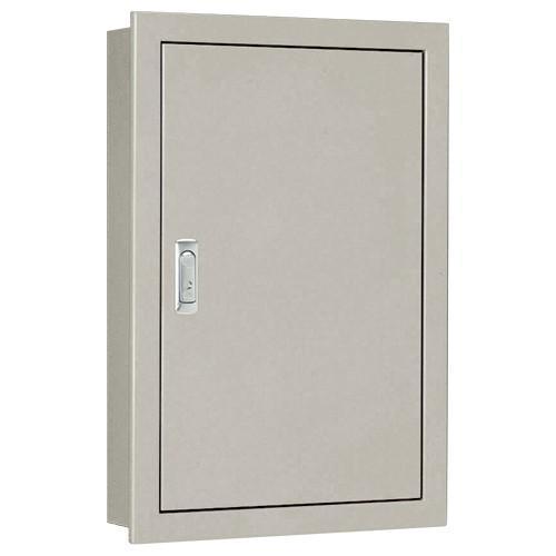 BF16-67C:盤用キャビネット(埋込形)(木製基板)(片扉)(外径:横600×縦700×深さ160)(基板:横520×縦620)