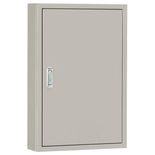 S25-55:盤用キャビネット(露出形)(鉄製基板)(片扉)(外径:横500×縦500×深さ250)(基板:横420×縦420)