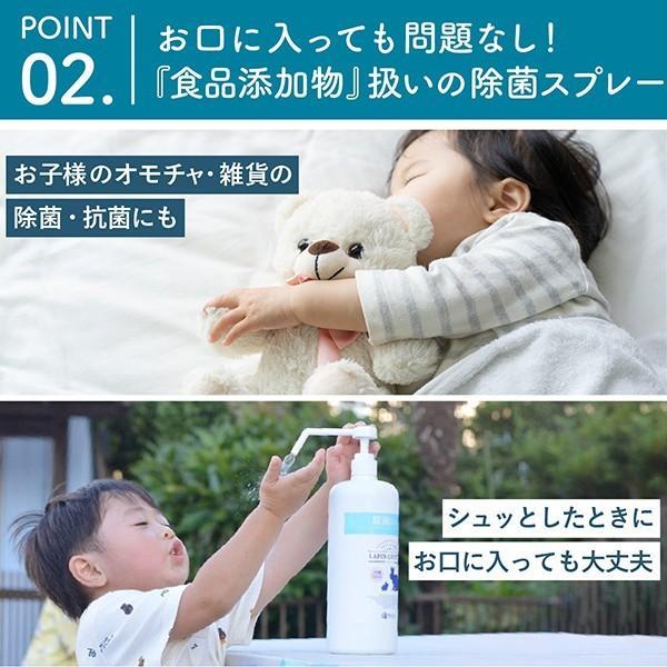 除菌スプレー 食品にも使える ラパンコート 日本製 大容量 アルコール 77% 置き型 除菌 抗菌 消臭 1000ml|yonekichi|04