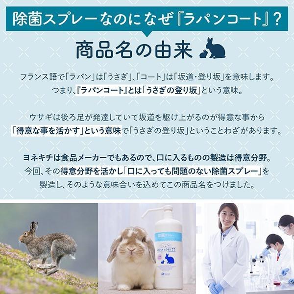 除菌スプレー 食品にも使える ラパンコート 日本製 大容量 アルコール 77% 置き型 除菌 抗菌 消臭 1000ml|yonekichi|09