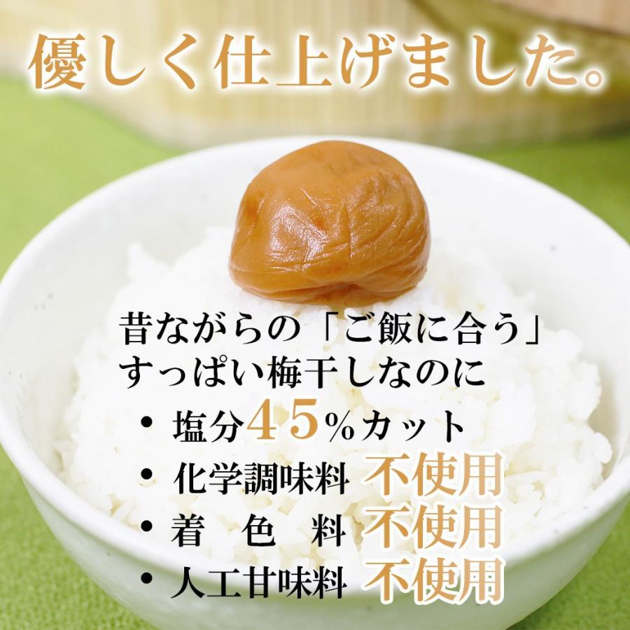 梅干し 送料無料 減塩 紀州南高梅 塩分ひかえたすっぱい梅干し 塩分12% 500g|yonekichi|05