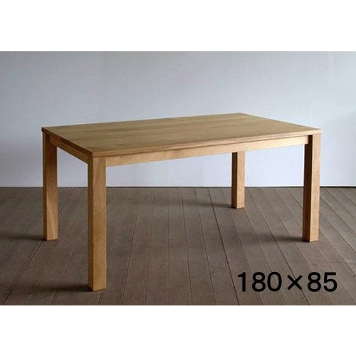 ダイニングテーブル 食卓テーブル エムテーブル オーク材 180/85