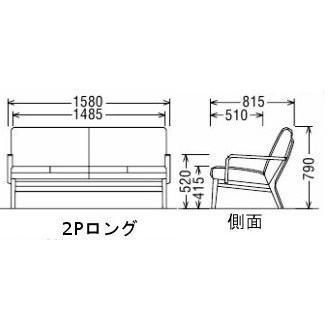 カリモク 布ソファー2Pロング WU4512WE オーク 送料無料 (シアーセレクト対応)|yorokobi|02