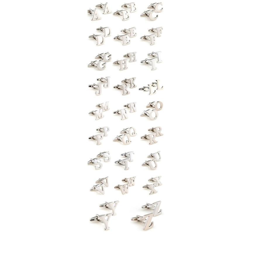 【定形外で発送】【2個セット】名前 カフス カフスボタン セット シンプル 頭文字 イニシャル アルファベット イニシャル 英字 T シャツ 結婚式 |yorokobiya|03