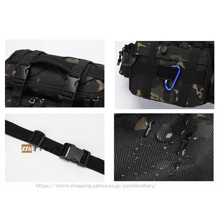 ショルダーバッグ ウエストバッグ 釣り バッグ 3way 防水 フィッシングバック 迷彩柄 大容量 多機能 バッグ カバン かばん|yoshikootory|12