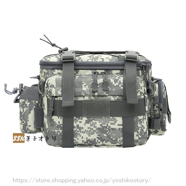 ショルダーバッグ ウエストバッグ 釣り バッグ 3way 防水 フィッシングバック 迷彩柄 大容量 多機能 バッグ カバン かばん|yoshikootory|15