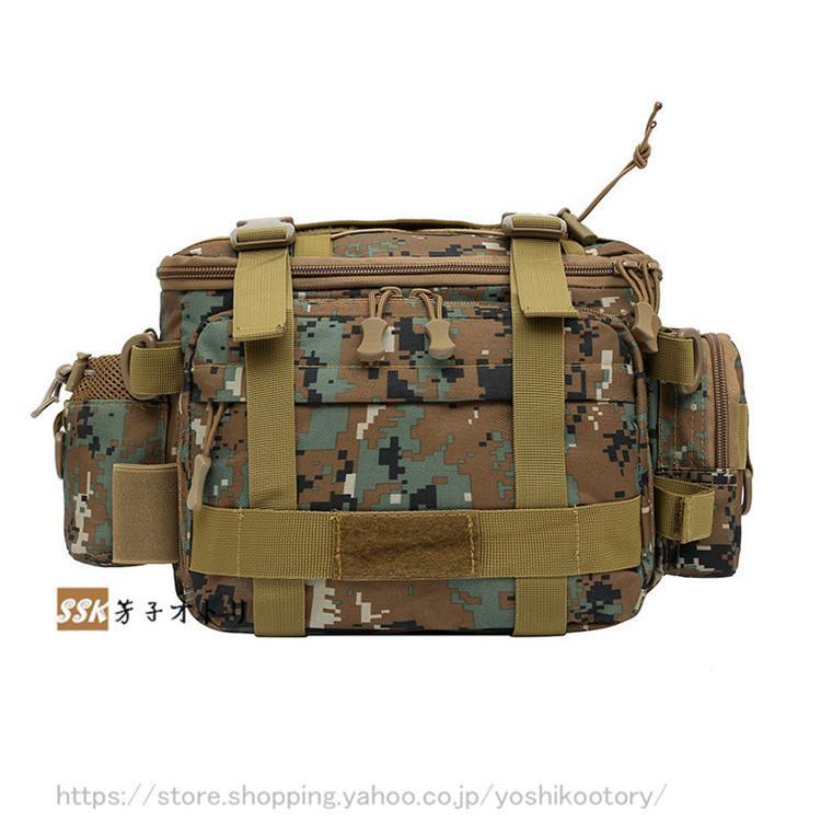 ショルダーバッグ ウエストバッグ 釣り バッグ 3way 防水 フィッシングバック 迷彩柄 大容量 多機能 バッグ カバン かばん|yoshikootory|17