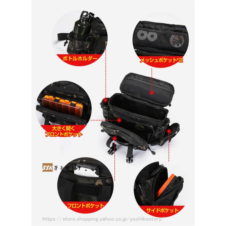 ショルダーバッグ ウエストバッグ 釣り バッグ 3way 防水 フィッシングバック 迷彩柄 大容量 多機能 バッグ カバン かばん|yoshikootory|09